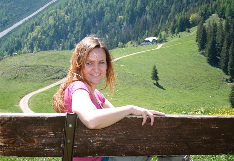 Michaela Spranger am Berg